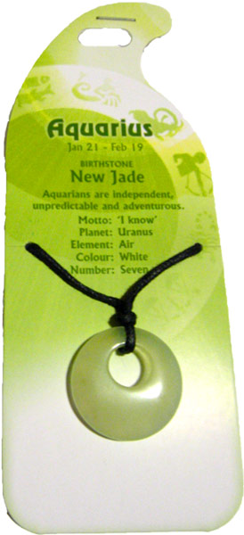 Aquarius Pendant (New Jade)