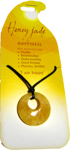 Happiness Pendant (Honey Jade)