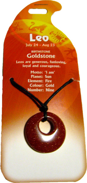 Leo Pendant (Goldstone) - Click Image to Close