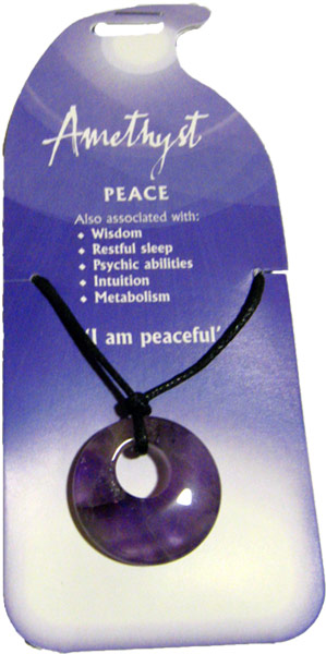 Peace Pendant (Amethyst) - Click Image to Close